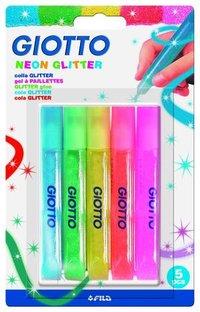 Glitter Glue Neon 5 pcs