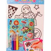 Coloring Stickers Set Fordon