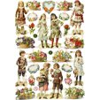 Die Cut Kids and flowers 7368