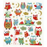 Stickers Owls Glitter