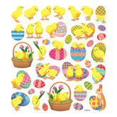 Stickers Easter Chicks with Glitter