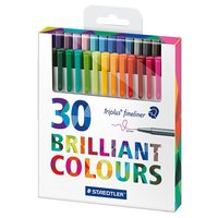 Triplus Fineliner Brilliant Colours 0,3 mm 30-pack