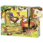Cube Puzzle Farm Farm Animals