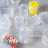 Plastic jar with lid 55 mm
