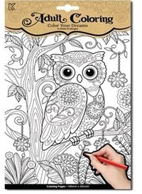 Adult coloring Owls