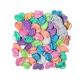 Pärlor Rosor Pastell 50 st