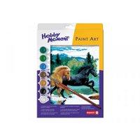 Paint Art Running Horses