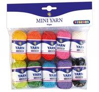 Minigarn Akryl 10 färger