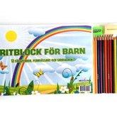Ritblock med pennor