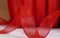 Organza Ribbon Röd 20 mm