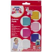 Fimo Kids lera 6-pack Pink