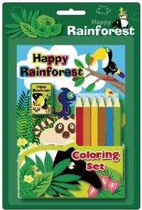 Coloring Set Happy Rainforest