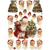Die Cut Santa Claus  7220