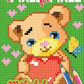Måla pixel för pixel - Teddybjörn