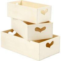Storage Box 3 pcs Poplar wood