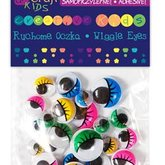 Wiggle Eyes with eyelashes 36 pcs